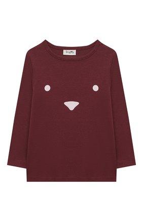 Детский хлопковая пижама SANETTA бордового цвета, арт. 12014 | Фото 2