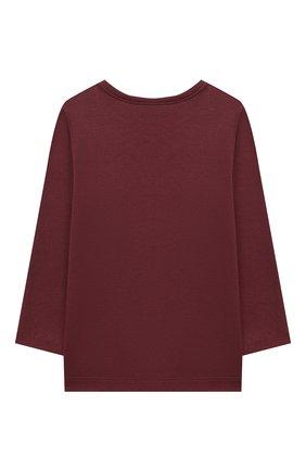 Детский хлопковая пижама SANETTA бордового цвета, арт. 12014 | Фото 3