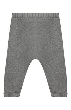 Детские хлопковые брюки SANETTA серого цвета, арт. 10123 | Фото 2