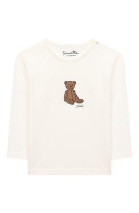 Детский хлопковый лонгслив SANETTA FIFTYSEVEN бежевого цвета, арт. 902089 | Фото 1