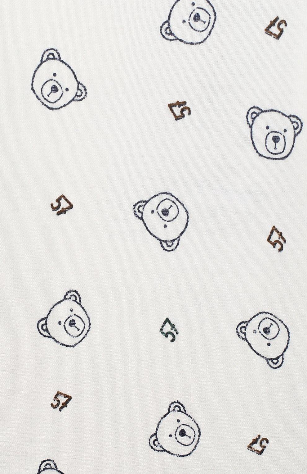 Детский хлопковый комбинезон SANETTA FIFTYSEVEN бежевого цвета, арт. 902113 | Фото 3