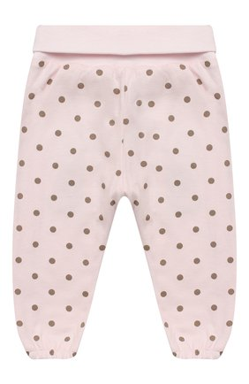 Детские хлопковые брюки SANETTA FIFTYSEVEN светло-розового цвета, арт. 906841 | Фото 2