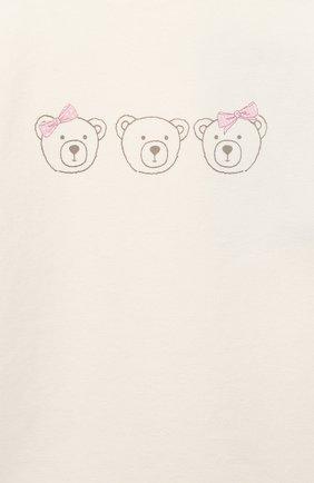 Детский хлопковый свитшот SANETTA FIFTYSEVEN бежевого цвета, арт. 906827   Фото 3