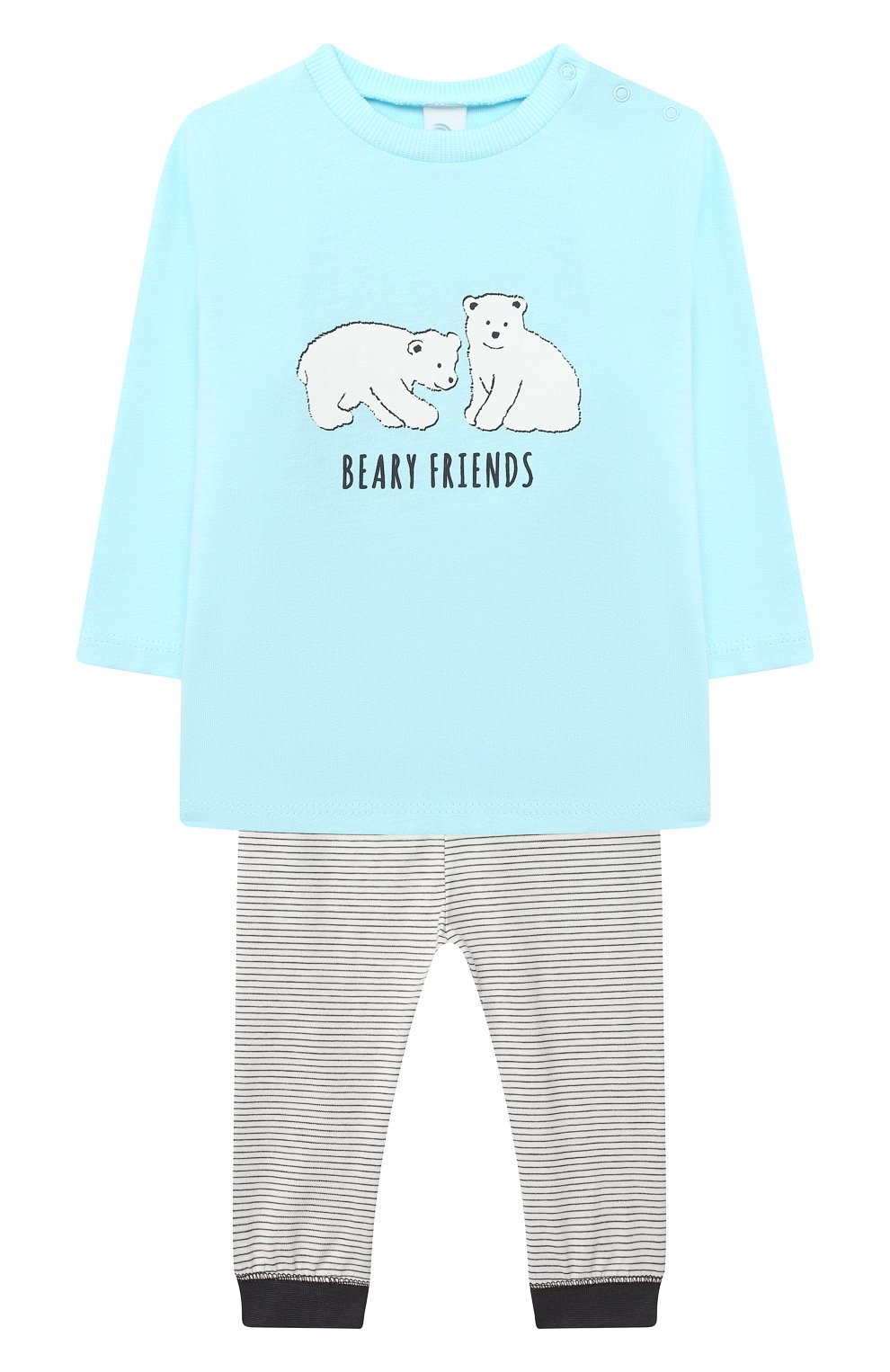 Детский хлопковая пижама SANETTA голубого цвета, арт. 221577 | Фото 1