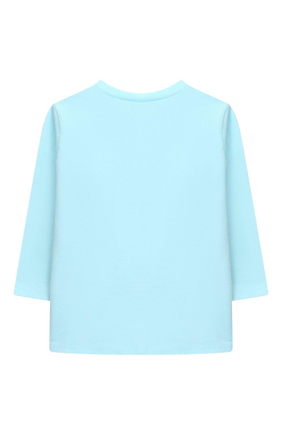 Детский хлопковая пижама SANETTA голубого цвета, арт. 221577 | Фото 3