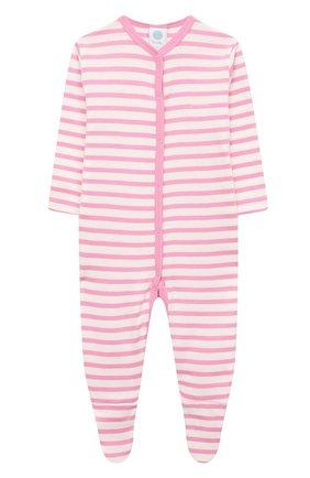 Детский хлопковый комбинезон SANETTA розового цвета, арт. 221552 | Фото 1