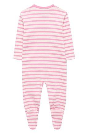 Детский хлопковый комбинезон SANETTA розового цвета, арт. 221552 | Фото 2