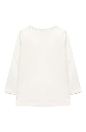 Детский хлопковая пижама SANETTA белого цвета, арт. 221565 | Фото 3