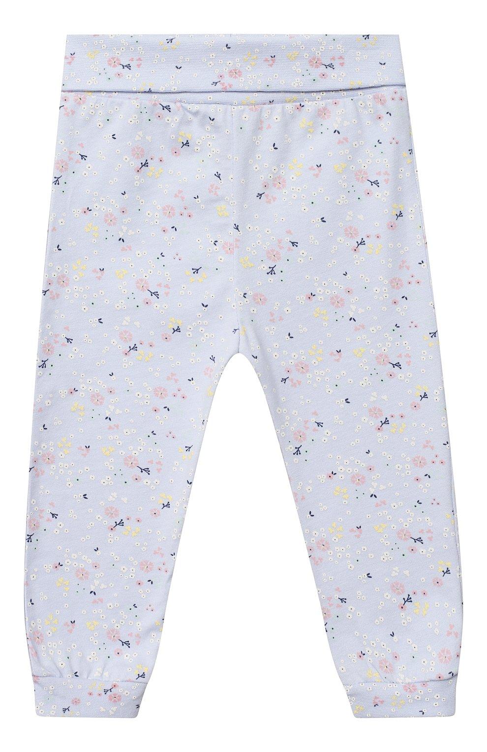 Детский хлопковая пижама SANETTA белого цвета, арт. 221565 | Фото 4