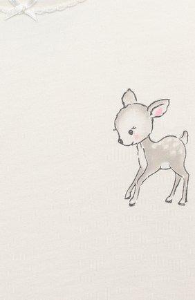 Детский хлопковая пижама SANETTA белого цвета, арт. 221565 | Фото 6