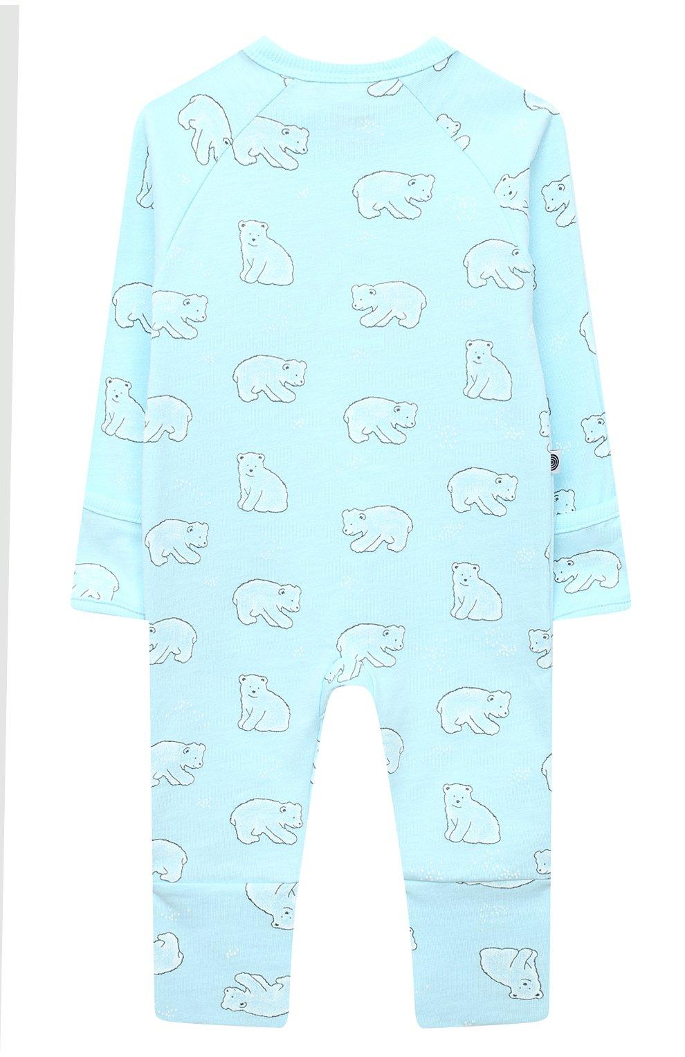 Детский хлопковый комбинезон SANETTA голубого цвета, арт. 221575   Фото 2