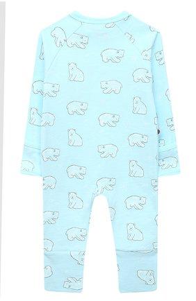Детский хлопковый комбинезон SANETTA голубого цвета, арт. 221575 | Фото 2