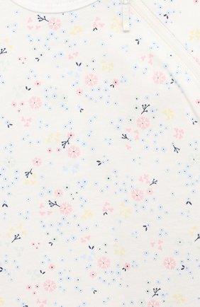 Детский хлопковый комбинезон SANETTA белого цвета, арт. 221564 | Фото 3