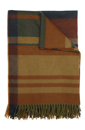 Кашемировый плед LORO PIANA оранжевого цвета, арт. FAL4217   Фото 1