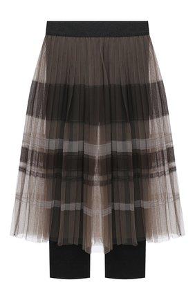 Детская юбка с леггинсами BRUNELLO CUCINELLI разноцветного цвета, арт. BA960G023B | Фото 1