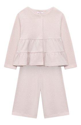 Детский комплект из жакета и брюк IL GUFO розового цвета, арт. A20DP343M0087/2A-4A | Фото 1
