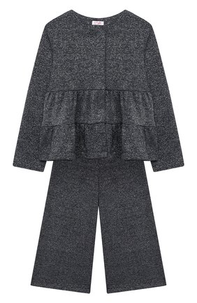 Детский комплект из жакета и брюк IL GUFO темно-синего цвета, арт. A20DP343M0087/5A-8A | Фото 1