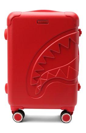 Детский чемодан SPRAYGROUND красного цвета, арт. 9100CL66NSZ   Фото 1 (Материал: Пластик)