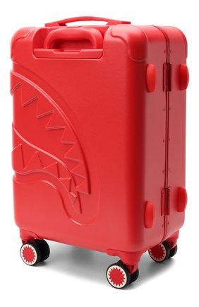 Детский чемодан SPRAYGROUND красного цвета, арт. 9100CL66NSZ   Фото 2 (Материал: Пластик)