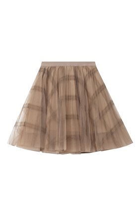 Детская юбка BRUNELLO CUCINELLI бежевого цвета, арт. BA960G026A | Фото 2