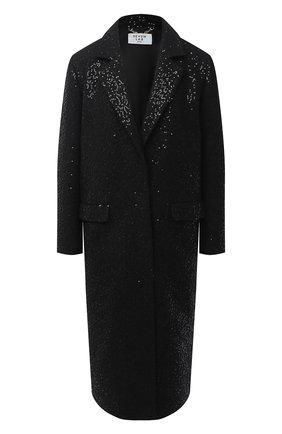 Женское пальто с пайетками SEVEN LAB черного цвета, арт. CM20-K04/2black brilliant | Фото 1