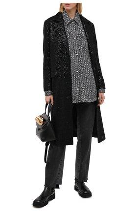 Женское пальто с пайетками SEVEN LAB черного цвета, арт. CM20-K04/2black brilliant | Фото 2