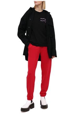 Женская хлопковая футболка SEVEN LAB черного цвета, арт. T20-CYPN black | Фото 2