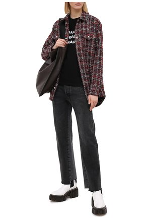 Женская хлопковая футболка SEVEN LAB черного цвета, арт. T20-MNC-G01 black | Фото 2
