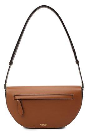Женская сумка olympia small BURBERRY коричневого цвета, арт. 8034707 | Фото 1 (Размер: small; Материал: Натуральная кожа; Ремень/цепочка: На ремешке; Сумки-технические: Сумки top-handle)