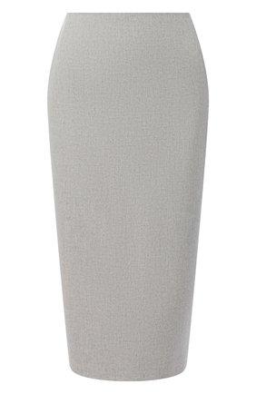 Женская шерстяная юбка RALPH LAUREN серого цвета, арт. 290821344 | Фото 1