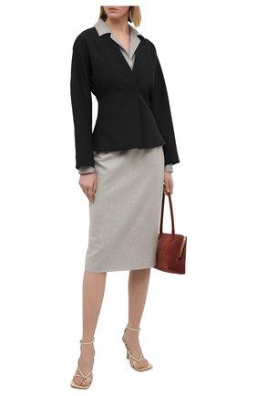 Женская шерстяная юбка RALPH LAUREN серого цвета, арт. 290821344 | Фото 2