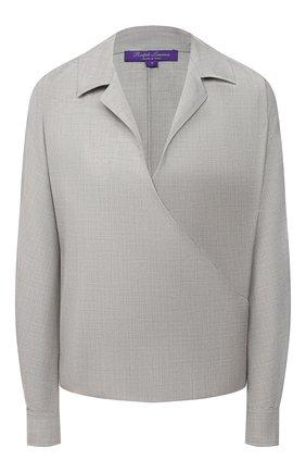 Женская шерстяная блузка RALPH LAUREN серого цвета, арт. 290818616 | Фото 1