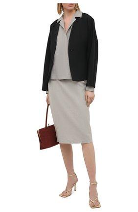 Женская шерстяная блузка RALPH LAUREN серого цвета, арт. 290818616 | Фото 2