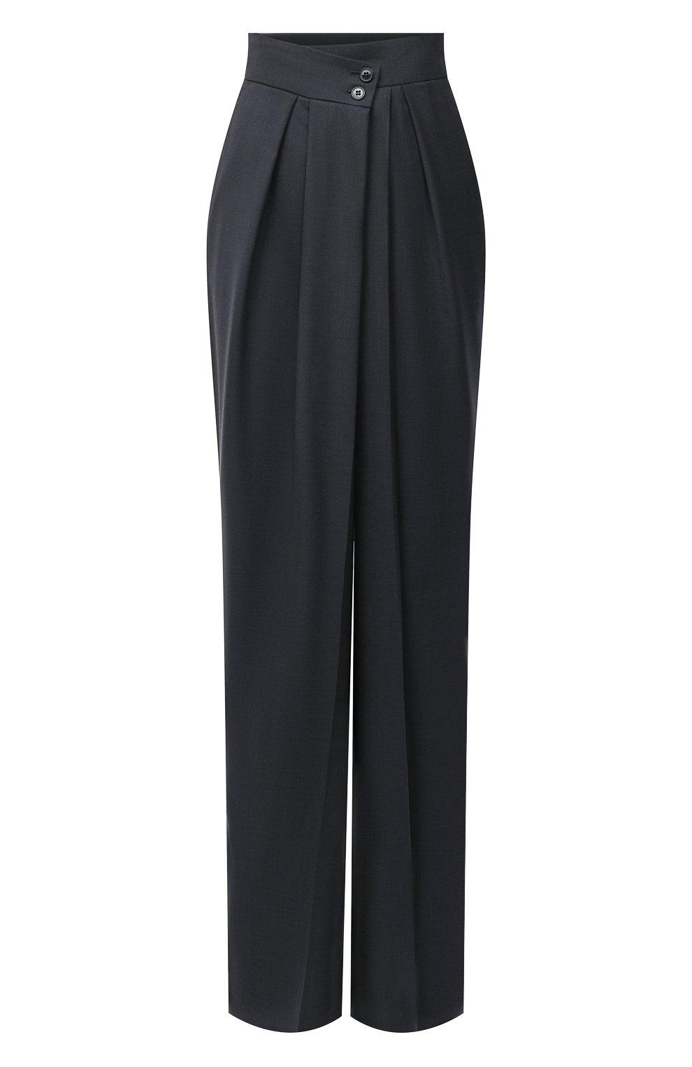 Женские шерстяные брюки PETAR PETROV серого цвета, арт. H0PE F20H9 | Фото 1