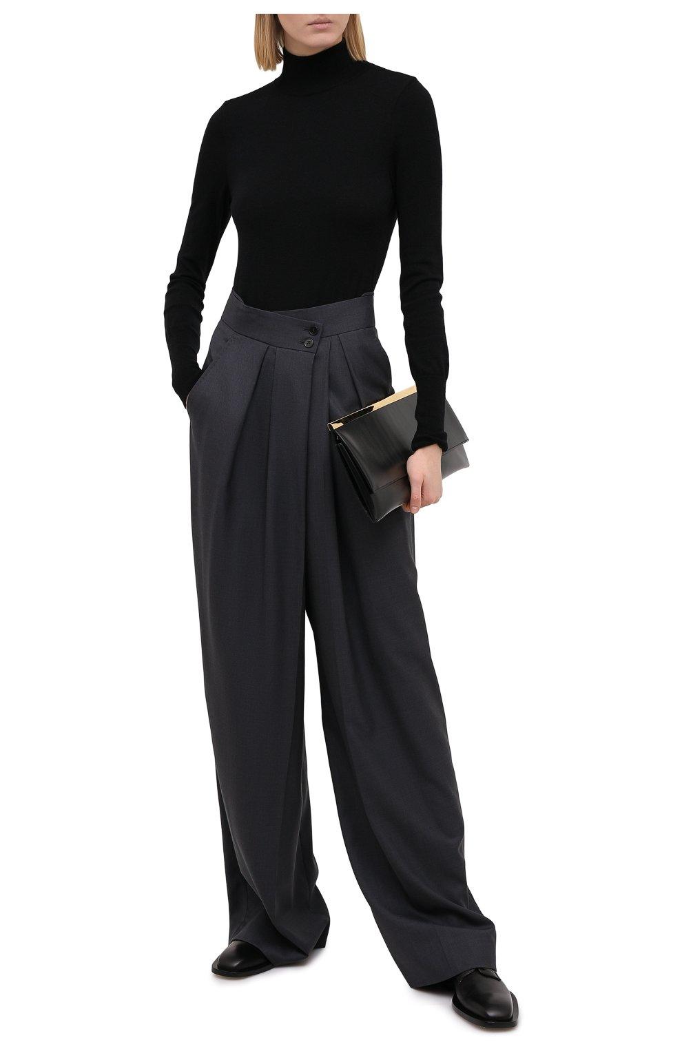 Женские шерстяные брюки PETAR PETROV серого цвета, арт. H0PE F20H9 | Фото 2