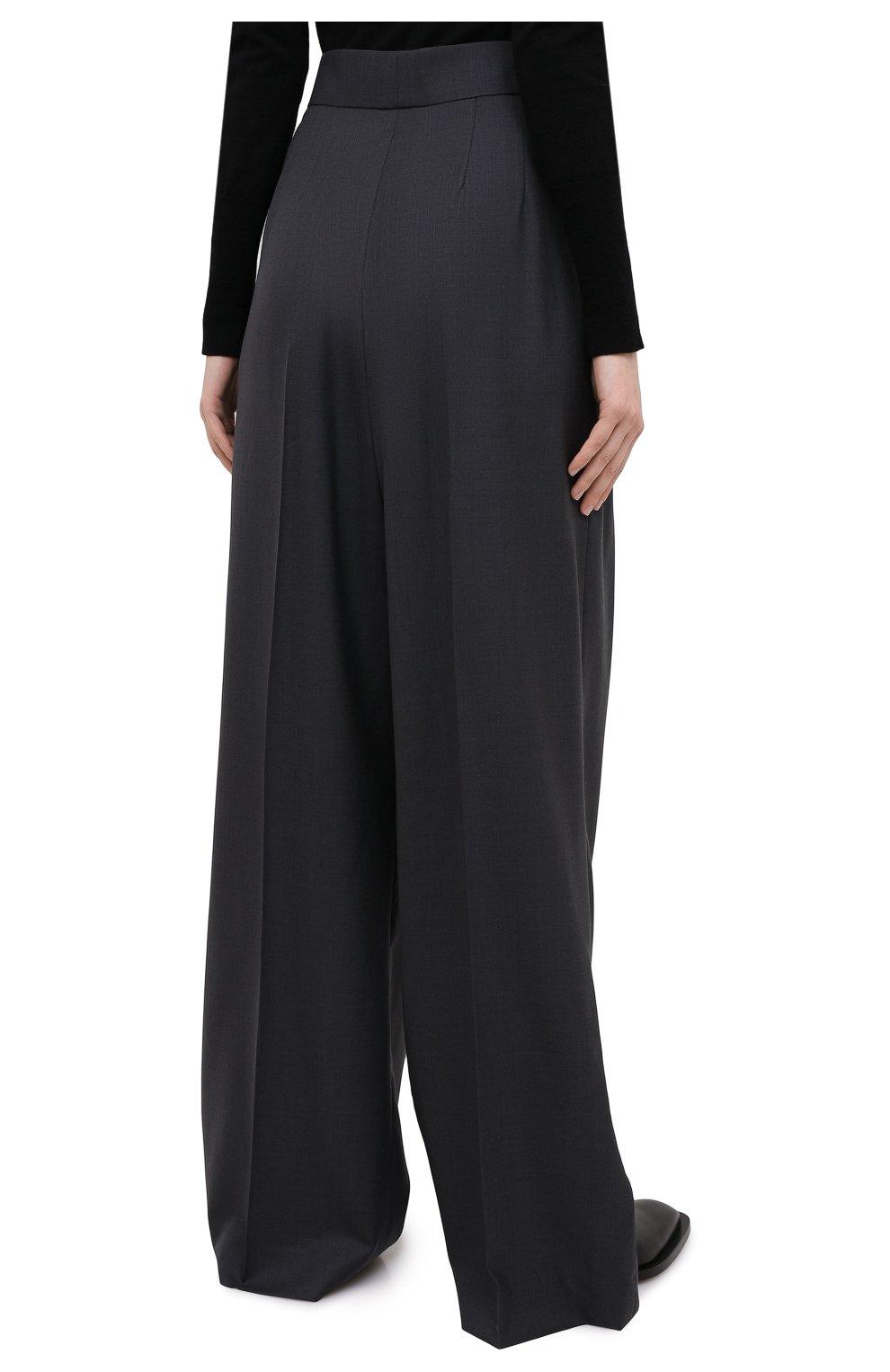 Женские шерстяные брюки PETAR PETROV серого цвета, арт. H0PE F20H9 | Фото 4