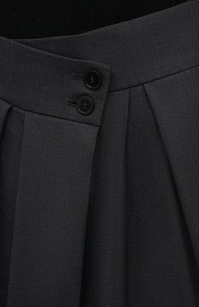 Женские шерстяные брюки PETAR PETROV серого цвета, арт. H0PE F20H9 | Фото 5