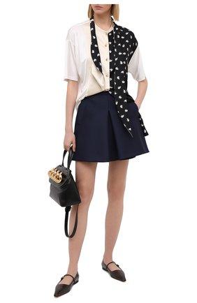 Женская шерстяная юбка LANVIN темно-синего цвета, арт. RW-ST419U-4184-H20 | Фото 2