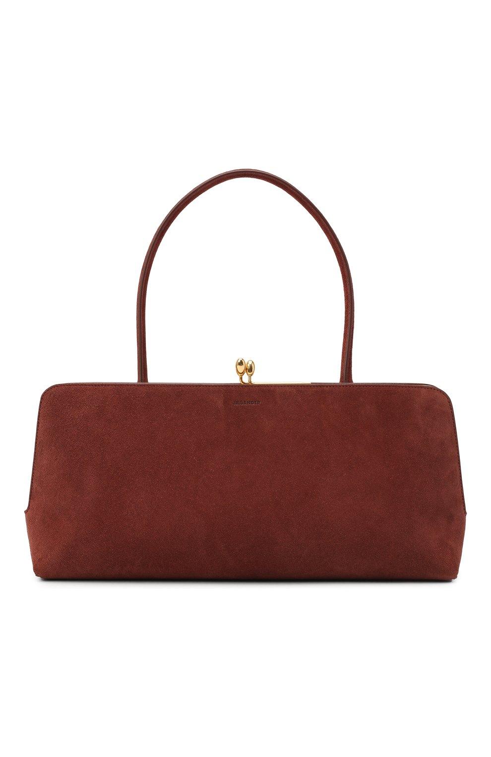 Женская сумка goji JIL SANDER коричневого цвета, арт. JSWR852369-WRB00081N   Фото 1