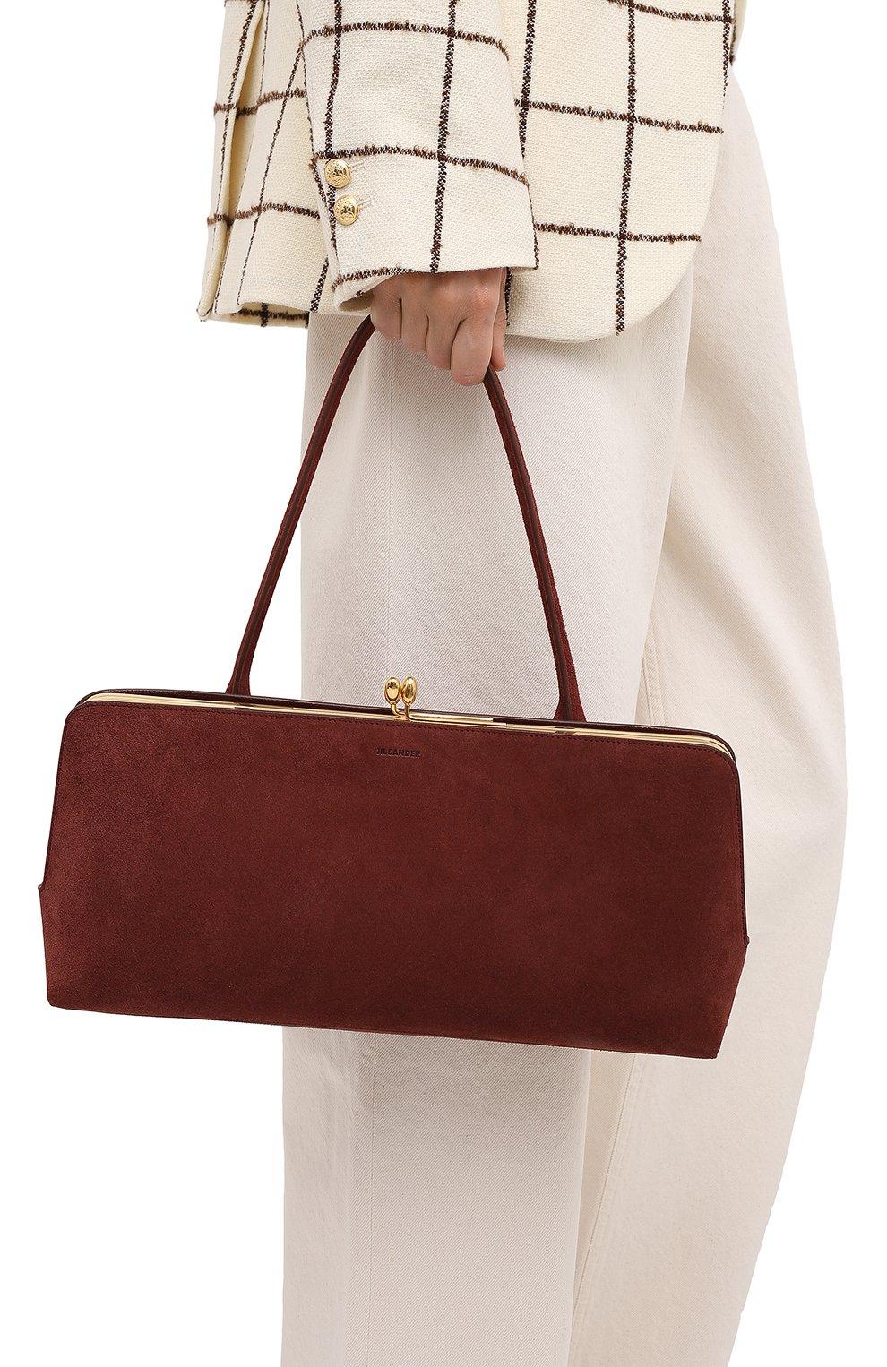 Женская сумка goji JIL SANDER коричневого цвета, арт. JSWR852369-WRB00081N   Фото 2