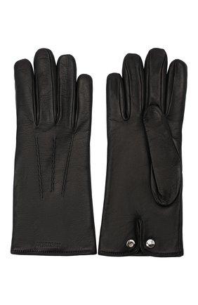 Мужские кожаные перчатки BURBERRY черного цвета, арт. 8035732 | Фото 2