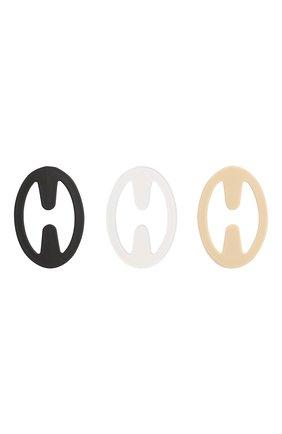Женские комплект из трех застежек MISS PERFECT черно-белого цвета, арт. MPA60330   Фото 2