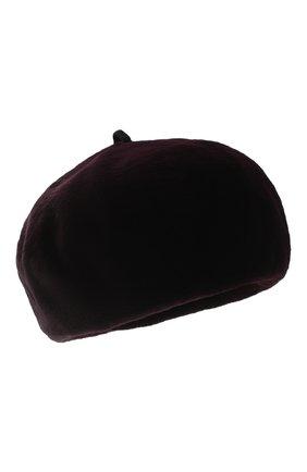 Женский берет из меха норки KUSSENKOVV бордового цвета, арт. 10110025023 | Фото 1