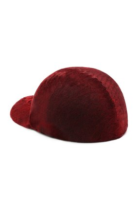 Женская бейсболка из меха каракуля KUSSENKOVV бордового цвета, арт. 857100025006 | Фото 2