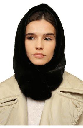 Женский капюшон из меха норки KUSSENKOVV серого цвета, арт. 199302880546 | Фото 2