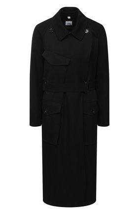 Женский плащ BURBERRY черного цвета, арт. 8032630 | Фото 1