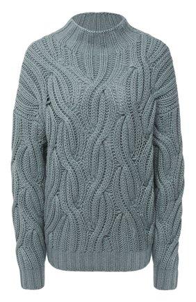 Женский кашемировый свитер BRUNELLO CUCINELLI голубого цвета, арт. M52362504 | Фото 1