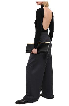 Женское шерстяное боди MOUSSY черного цвета, арт. 025DA370-5020 | Фото 2