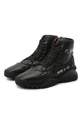 Женские ботинки F_WD черного цвета, арт. FWS35012A/12084 | Фото 1