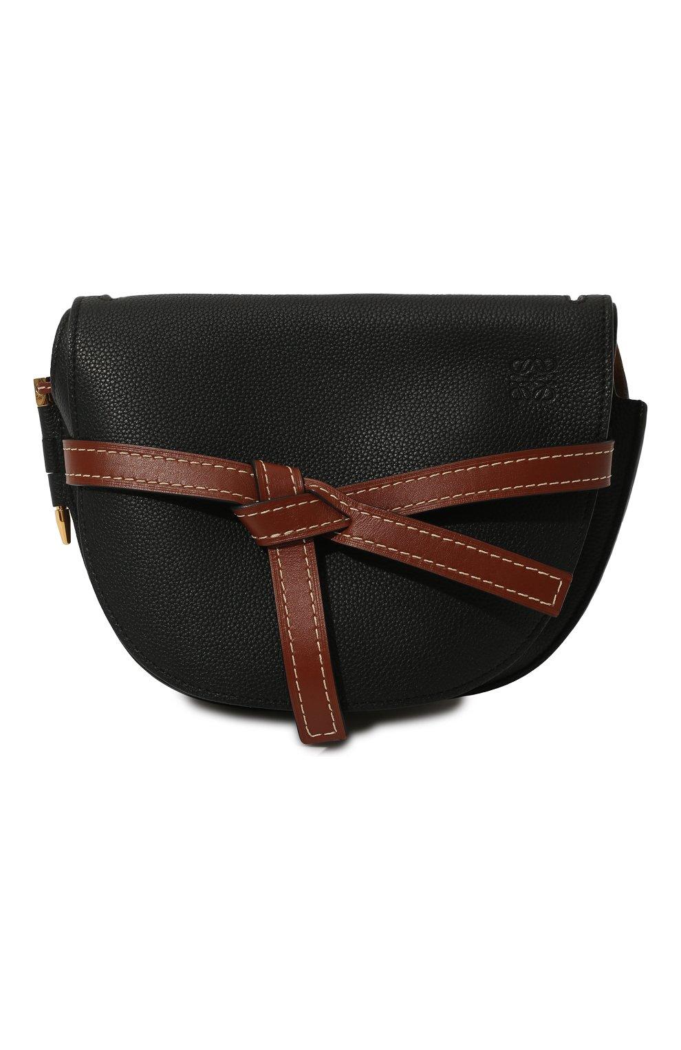 Женская сумка gate small LOEWE черного цвета, арт. 321.12.T20 | Фото 1